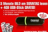 Bild am Sonntag Miniabo plus 4 GB USB-Stick für 9 Euro